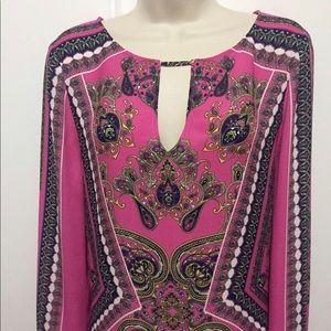 BCBGMaxAziria Pink Scarf Print Dress